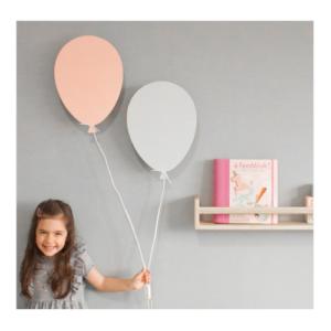Drvena lampa Balon beli Mini Mondo
