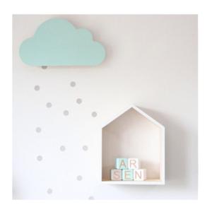 Drvena lampa Oblak plavi Mini Mondo