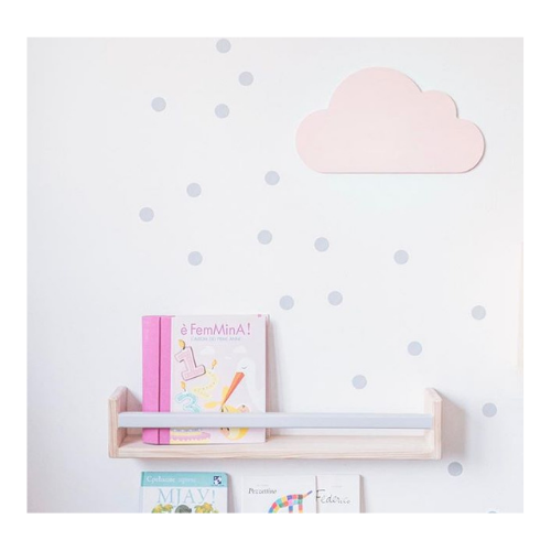 Drvena lampa Oblak roze Mini Mondo