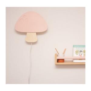 Drvena lampa Pecurka roze Ellika knjizara Mini Mondo