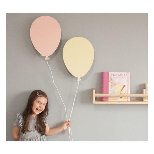 Drvena lampa Balon roze Ellika knjizara Mini Mondo
