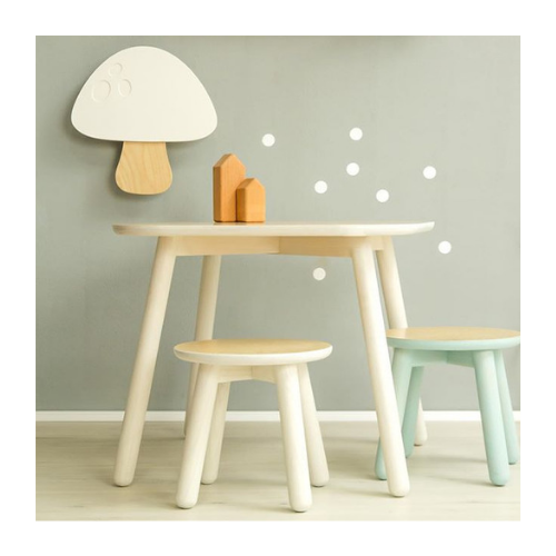 Drvena lampa Pecurka bela knjizara Mini Mondo