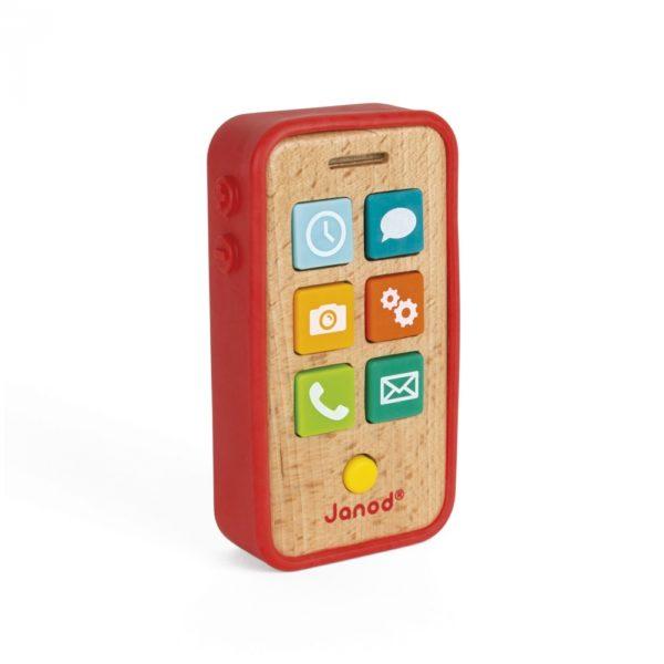 Drveni telefon Janod - Mini Mondo
