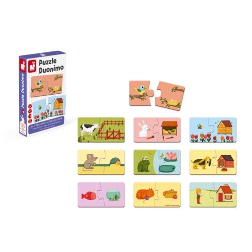 Duonimo puzzle Janod- Mini Mondo