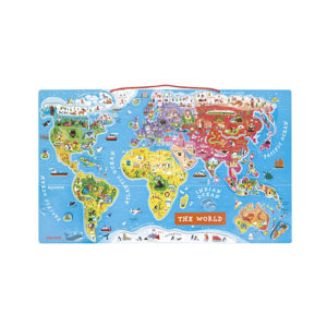 Janod - Mapa sveta sa magnetima
