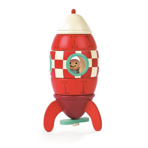 Mala drvena raketa sa magnetima Janod knjizara Mini Mondo