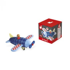 Janod igracke Drveni avion na magnete Mini Mondo Beograd