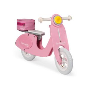 Janod Drveni bicikl vespa pink