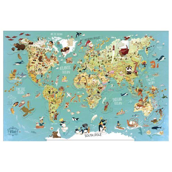 Vilac - Magnetna mapa sveta