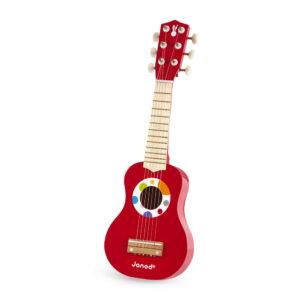Janod Drvena gitara za decu - crvena