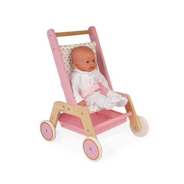 koica za bebe, kolica za lutku, janod igracke