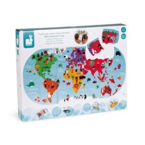 Igračka za kupanje - Mapa sveta