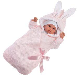 llorens-lutka-Baby-Saco-conejita-rosa