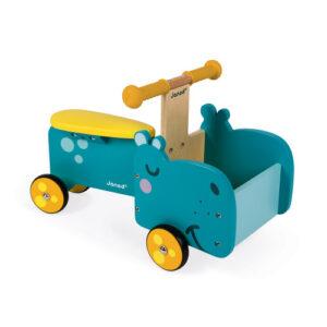 Dečija drvena guralica - Nilski konj- Mini Mondo